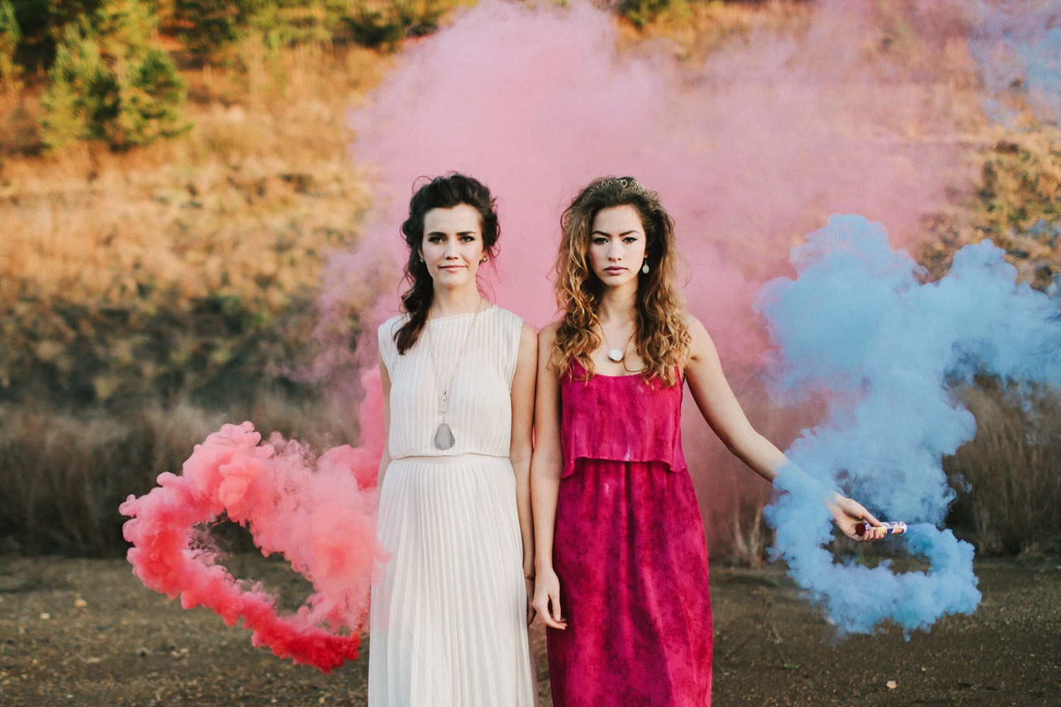 Smoke Bomb Wedding Ideas | Palm Springs, CA