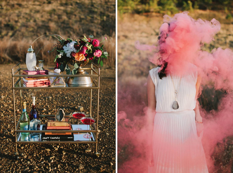 bomba de humo de fotografia